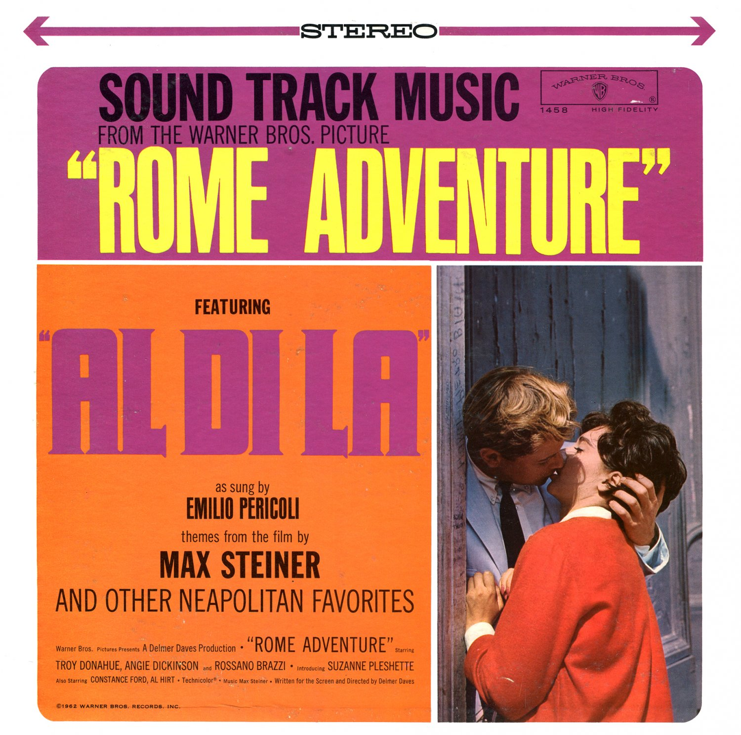 Rome Adventure - Original Soundtrack, Max Steiner OST LP/CD