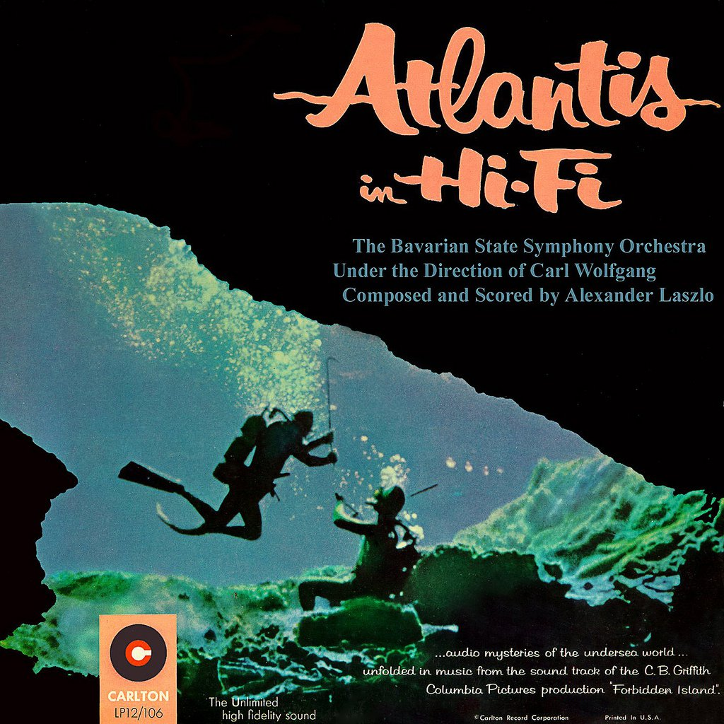 Forbidden Island, Atlantis In Hi-Fi - Original Soundtrack, Alexander Laszlo OST LP/CD