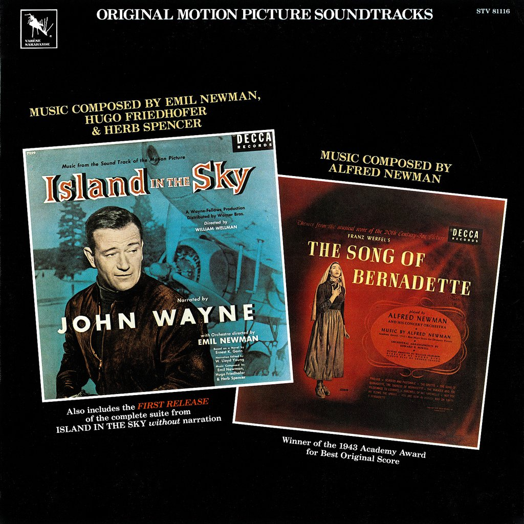 Island In The Sky / The Song Of Bernadette - Original Soundtrack, Emil & Alfred Newman OST LP/CD