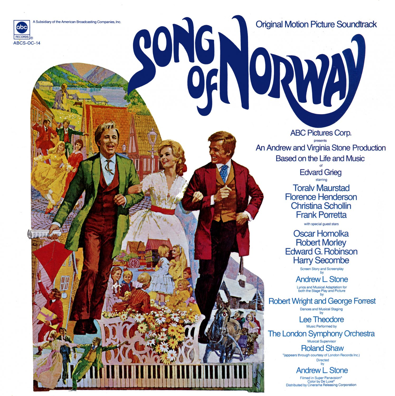 Song Of Norway (1970) - Original ABC Soundtrack, Film OST LP/CD