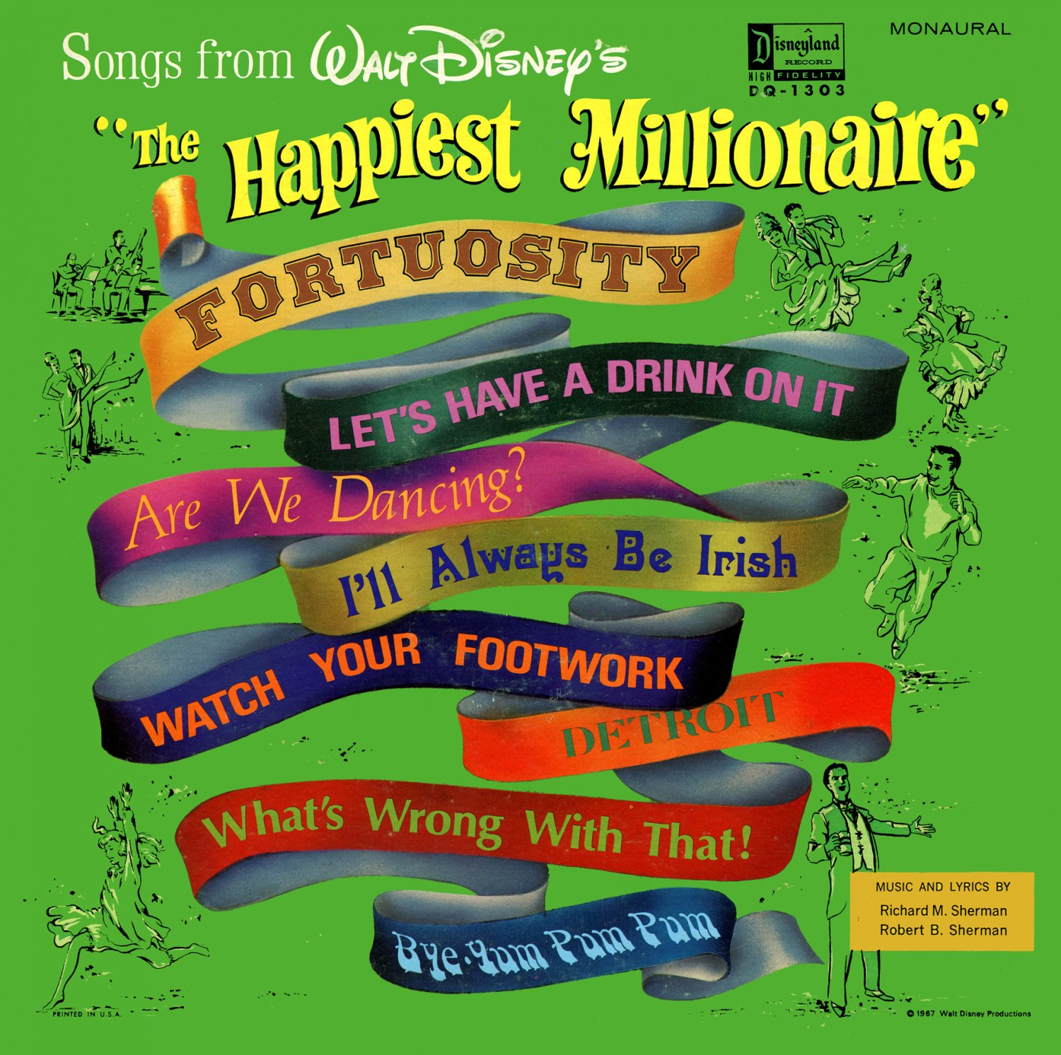 Songs From The Happiest Millionaire - Walt Disney Soundtrack, Sherman Brothers LP/CD