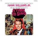A Time To Sing - Original Soundtrack, Hank Williams Jr. OST LP/CD