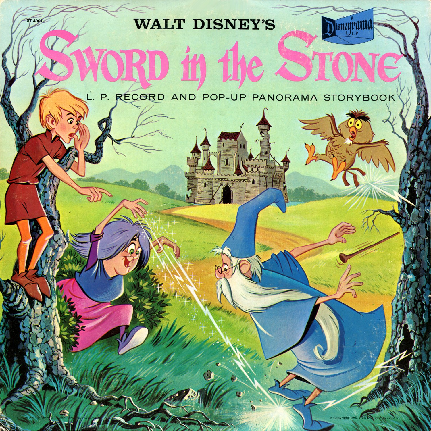 Walt Disney's Sword In The Stone - Disneyrama Story Soundtrack, Rare Pop-Up Edtion LP/CD
