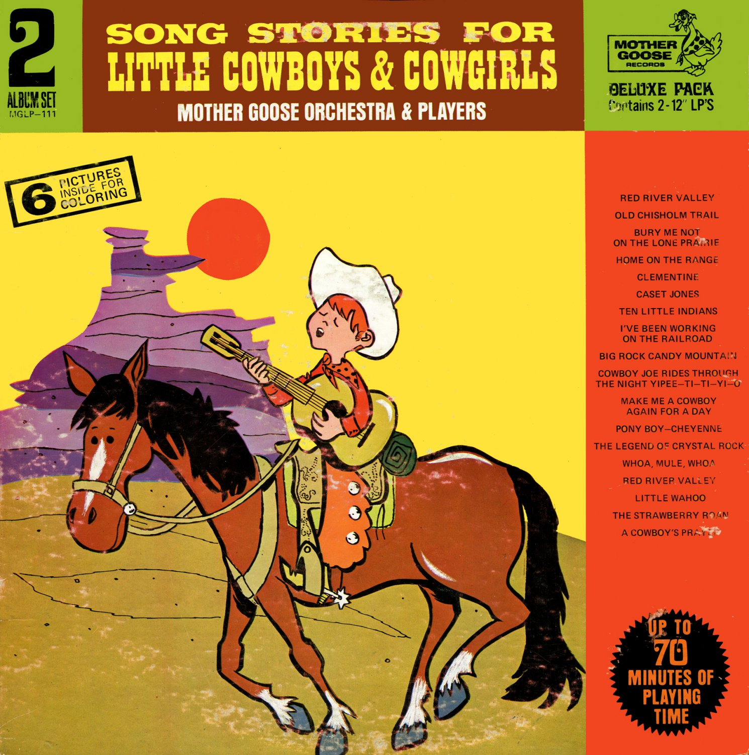 Song Stories For Little Cowboys & Cowgirls - Mother Goose Orchestra & Players LP/CD