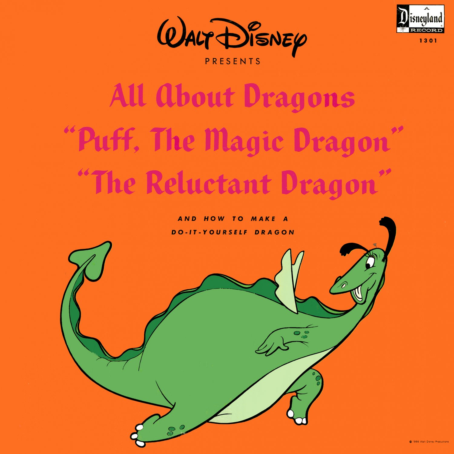 All About Dragons - Walt Disney Soundtrack, The Reluctant Dragon LP/CD