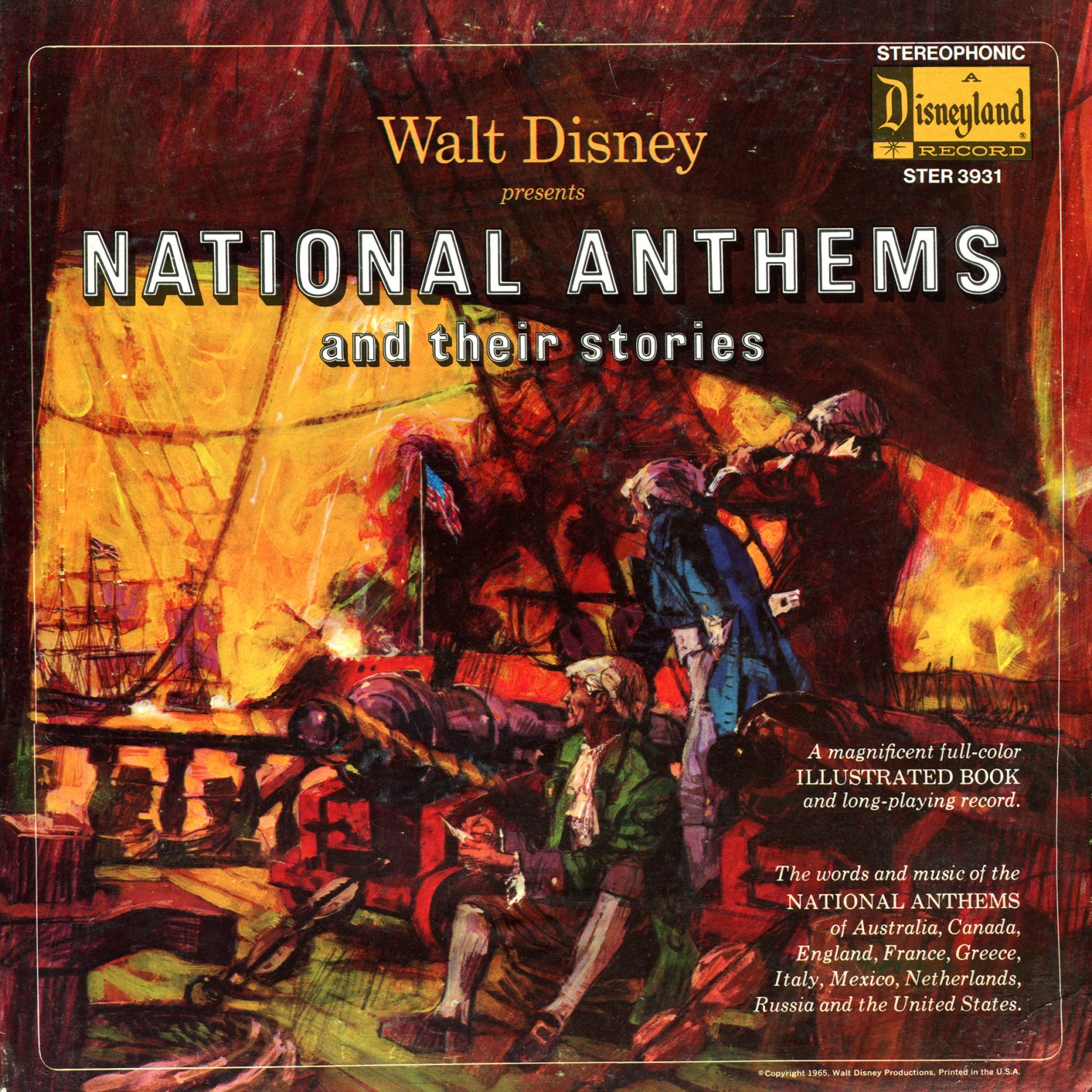 National Anthems and Their Stories - Walt Disney Soundtrack LP/CD
