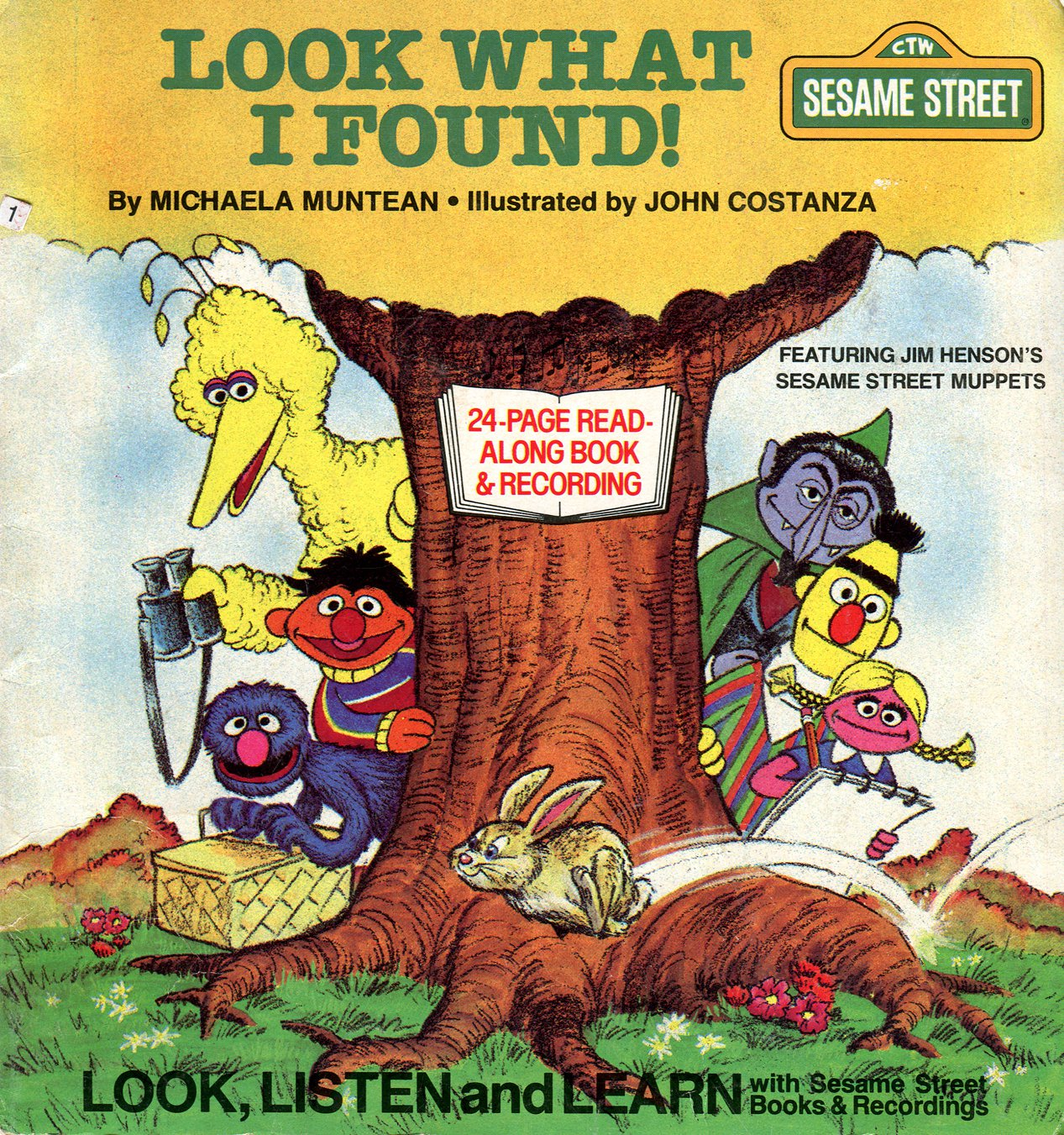 Look What I Found! - Sesame Street Look-Listen-Learn Book & Record EP/CD