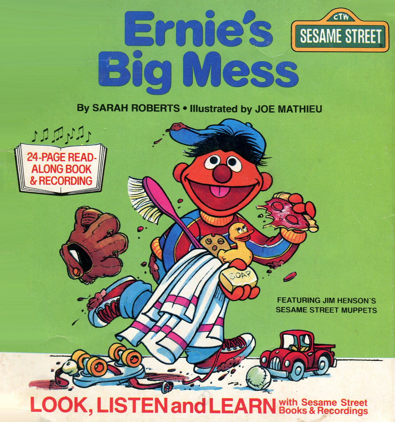 Ernie's Big Mess - Sesame Street Look-Listen-Learn Book & Record EP/CD