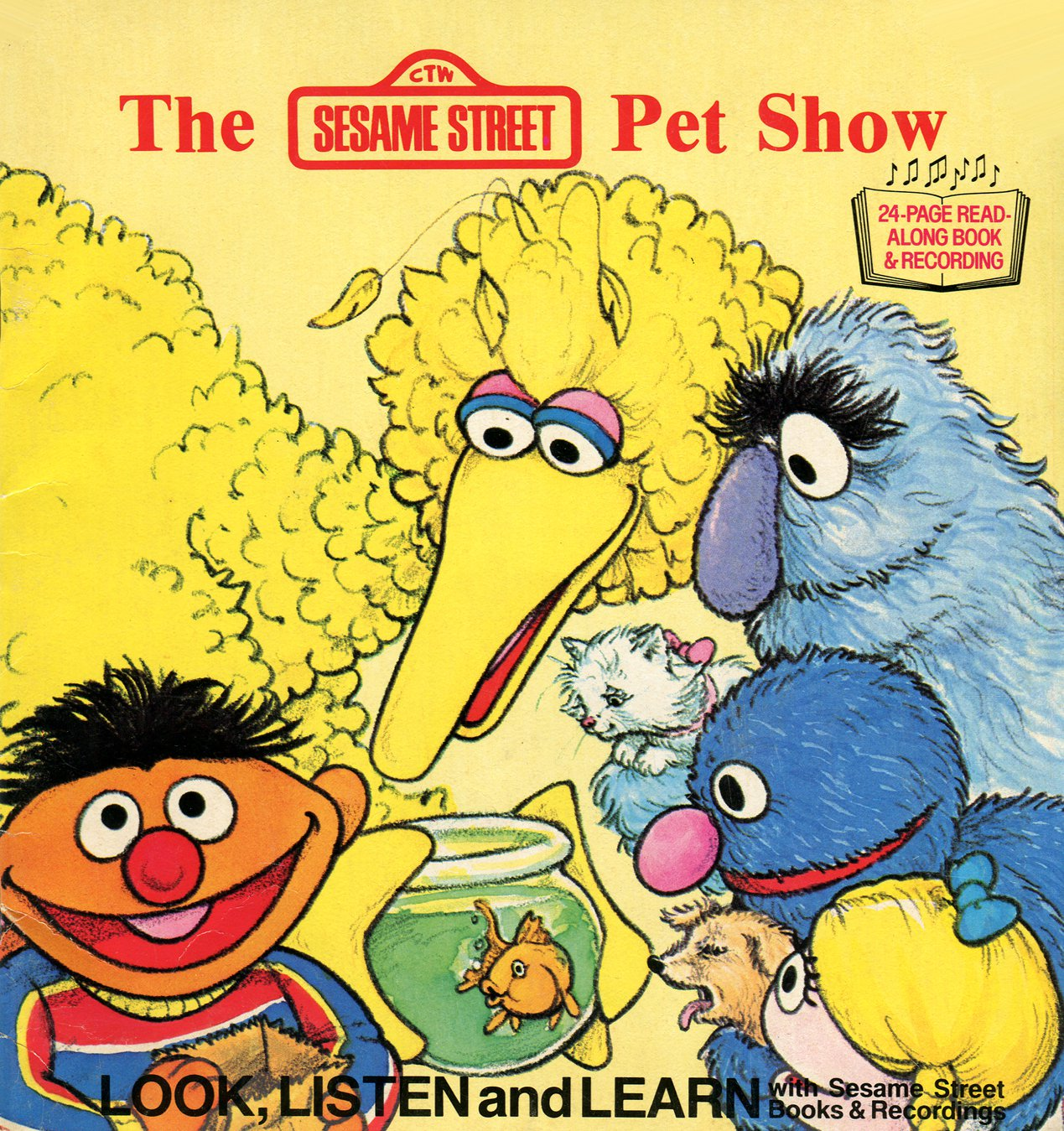 The Pet Show - Sesame Street Look-Listen-Learn Book & Record EP/CD