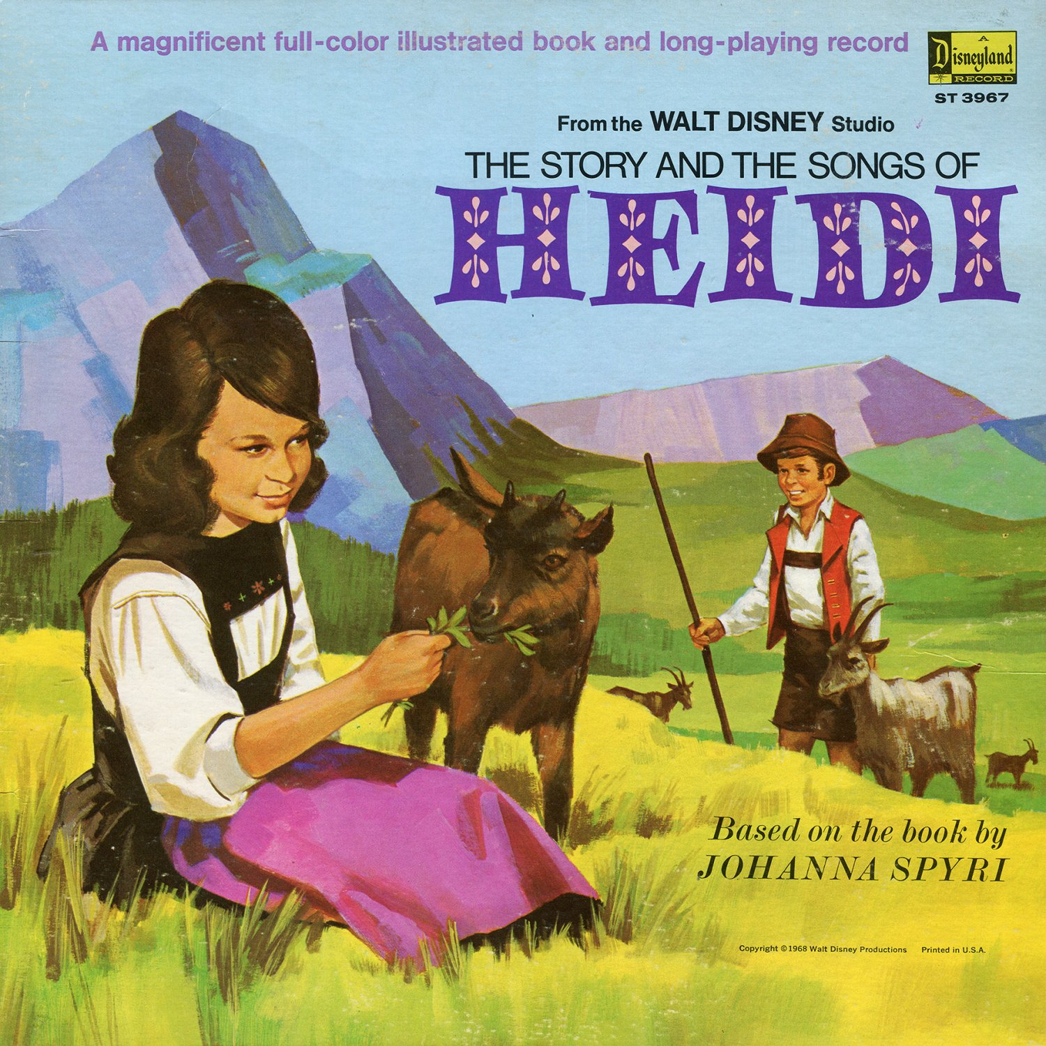The Story & Songs Of Heidi - Walt Disney Soundtrack, Camarata LP/CD