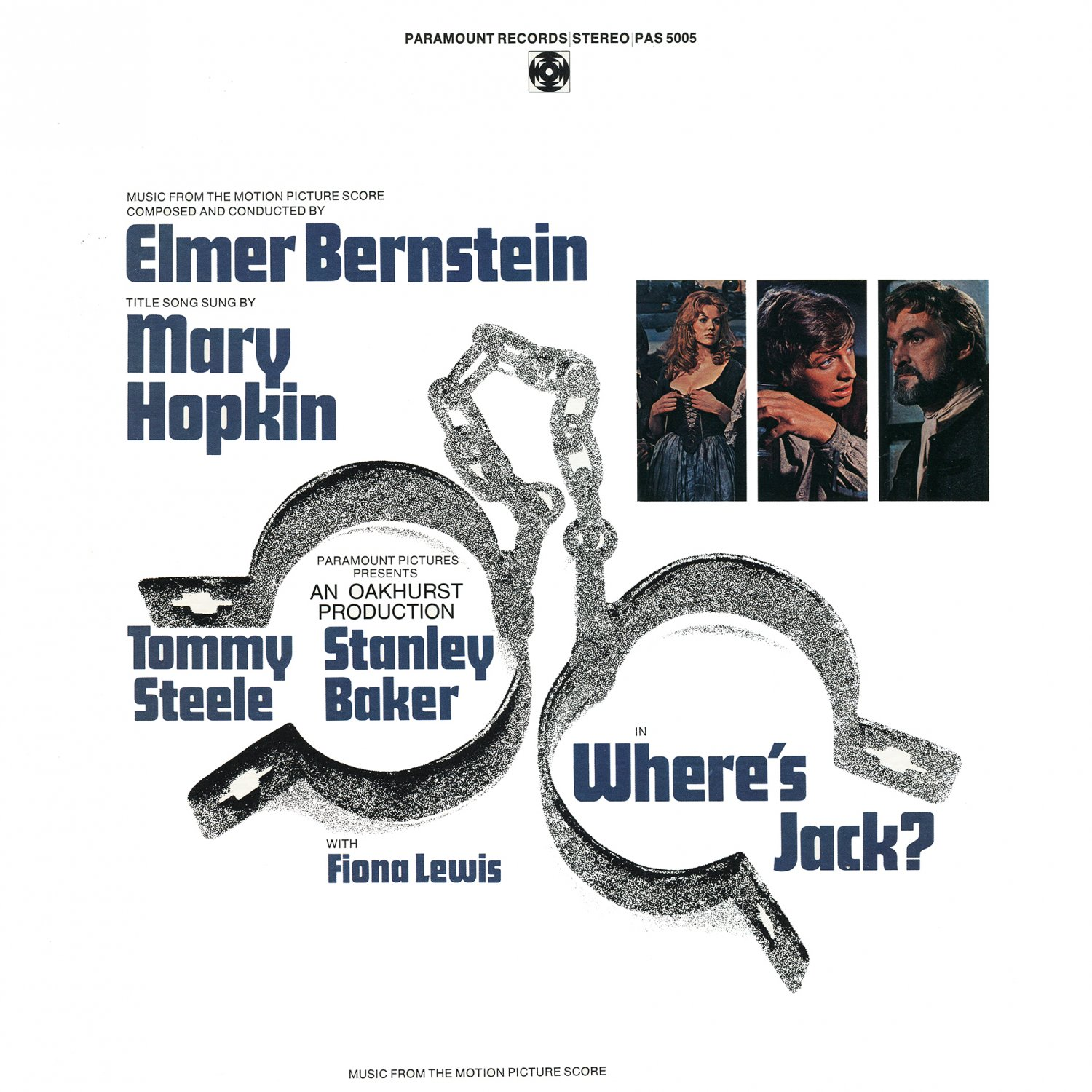 Where's Jack? - Original Soundtrack, Elmer Bernstein OST LP/CD