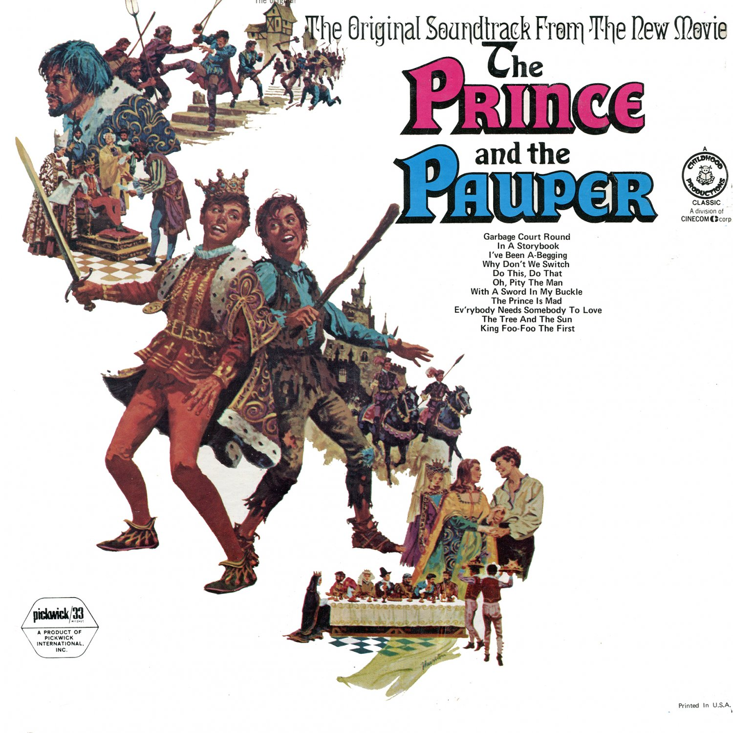 The Prince And The Pauper - Original Soundtrack, George Fischoff OST LP/CD