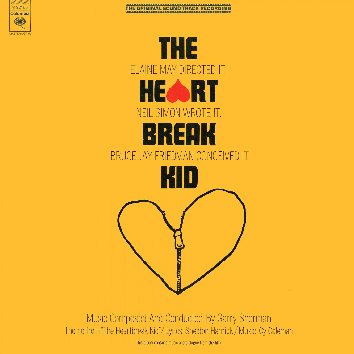 Neil Simon's The Heartbreak Kid (1973) - Original Soundtrack, Garry Sherman OST LP/CD