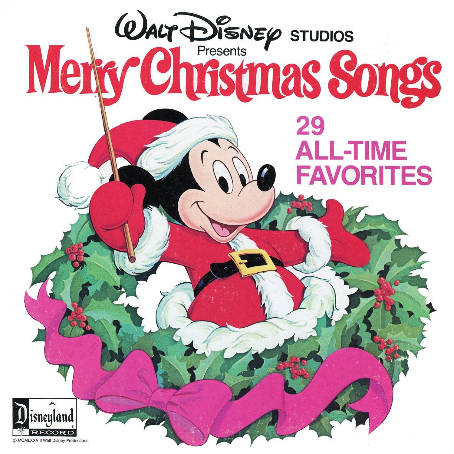 Merry Christmas Songs - Disney Holiday Music Collection, 2 Disc Set LP/CD