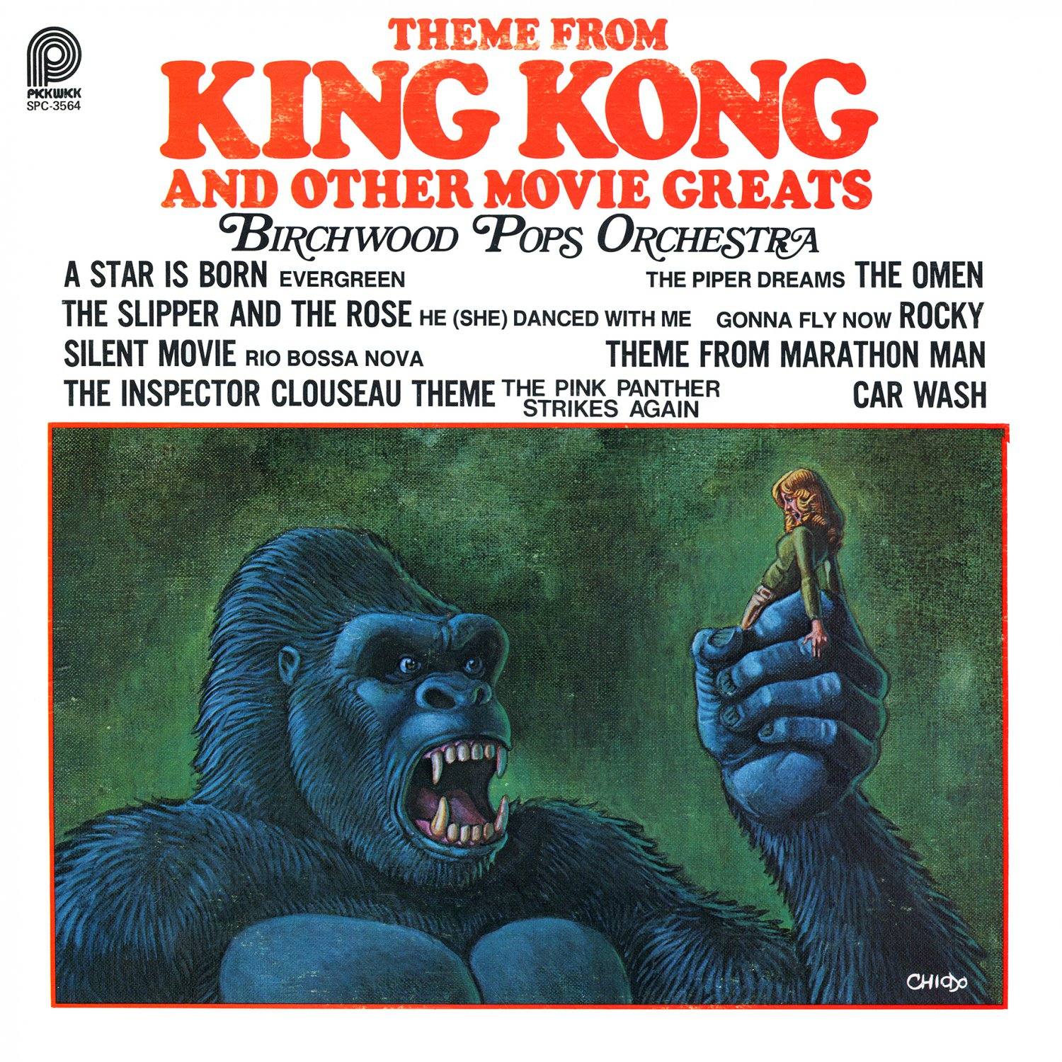 Theme from King Kong and Other Movie Greats - Soundtrack Collection, Birchwood Pops LP/CD