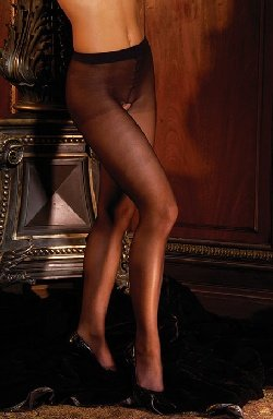 Unveiled-Sheer Crotchless Pantyhose