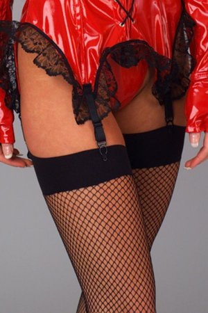Black Fishnet Can Can Stockings