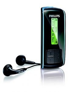 Philips 512mb Portable Music Player ~ Black ~ Refurbished