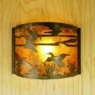 12w Ducks In Flight Wall Sconce