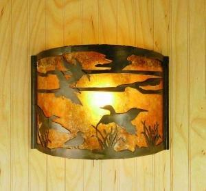 12w Ducks In Flight Wall Sconce