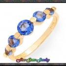 1.50ctw Genuine Topaz 14K/925 Gold Plt Silver Ring - Sz 8
