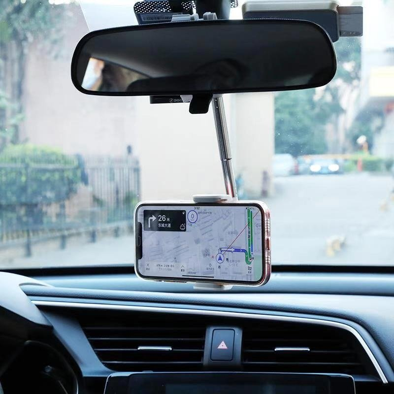 New Car Phone Holder Rearview Mirror Mount Smartphone Holder Stand Adjustable