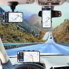 Car Holder Easy Clip Mount Stand Adjustable Cell Smartphone Support Black For Universal