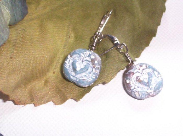 Blue Stone-look Earrings