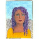 Angel in a Yellow Dress - ACEO - original art card