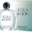 New Armani Acqua Di Gioia for Women Eau de Parfum Spray 100ml. Retail Package. Unopened