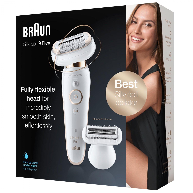 New Braun Silk-epil 9002 Flex Wet & Dry Epilator with 4 Extras including Shaver Head
