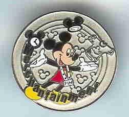 Disney cast exclusive silver merchantainment pin award