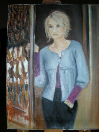 """Christine Wong One-Of-A-Kind Original Oil Paintings *THE GATE* Signed 14"""" by 18"""""""