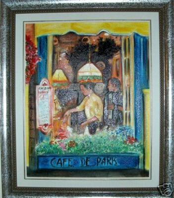 """Christine Wong Original Oil Painting *WINDOW* One Of A Kind Signed Art 20"""" by 16"""""""