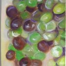 """Christine Wong Original Oil Painting *GRAPES* 5""""x7"""" Canvas Board Signed One Of A Kind Arts"""