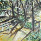 Christine ART Original Acrylic Paintings SHADOWS TREES!