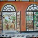 Christine ART Original Oil Paintings *THE PATIO* Signed