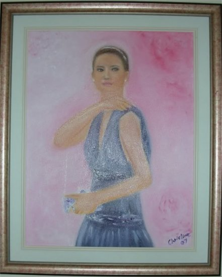 Christine ARTIST Original Oil Painting PRINCESS Signed