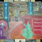 Christine ART Original Oil Paintings *JAZZ BAR* Signed