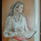 Christine ART Original Oil Painting *LOST IN THOUGHTS*