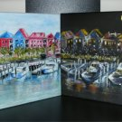 Christine ART Original Acrylic Painting x2 DAY & NIGHT