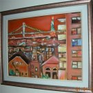 Christine ART Original Oil Paintings BROOKLYN BRIDGE NY