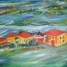 Christine ART Original Oil Paintings TUSCANY SKY Signed
