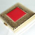 GILDED FRAME Red Enamel GOLD Compact ESTEE LAUDER!