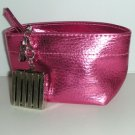 "CLINIQUE Butter Shine PINK-A-BOO Lipstick Compact ""C"" Charm Cosmetic Bag"