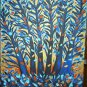 Christine Original Acrylic Painting BLUE TREE MOONLIGHT Signed 2009