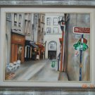 Christine ART Original Oil Painting LE MARAIS PARIS Street Corner 2012