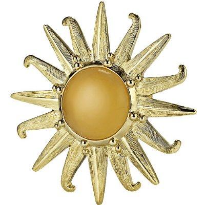 ESTEE LAUDER RADIANT SUN 2012 Gold Enamel Beautiful Solid Perfume Compact NEW!