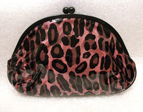 MAC Pink Leopard Cosmetic Kiss Lock Clutch Bag LIZ GOLDWYN M.A.C Cosmetics