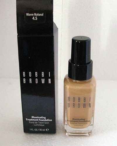 BOBBI BROWN Illuminating Treatment Foundation WARM NATURAL 4.5 Full Size NIB!